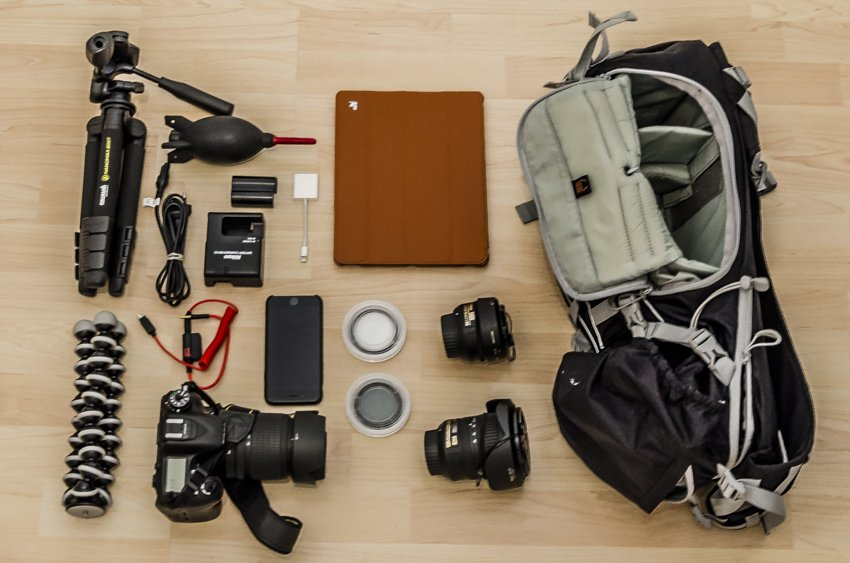 What we pack for out photo adventures