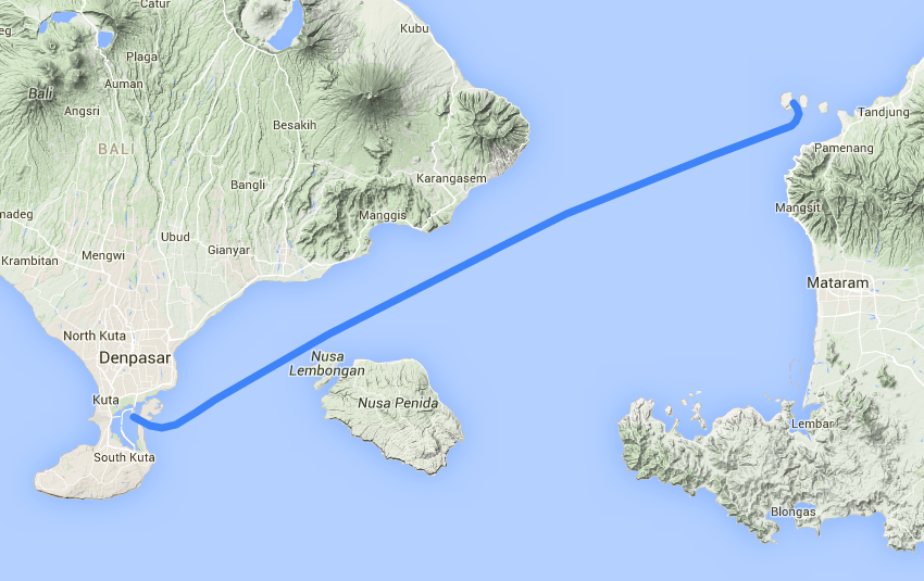 Fast route from Bali to Gili Trawangan