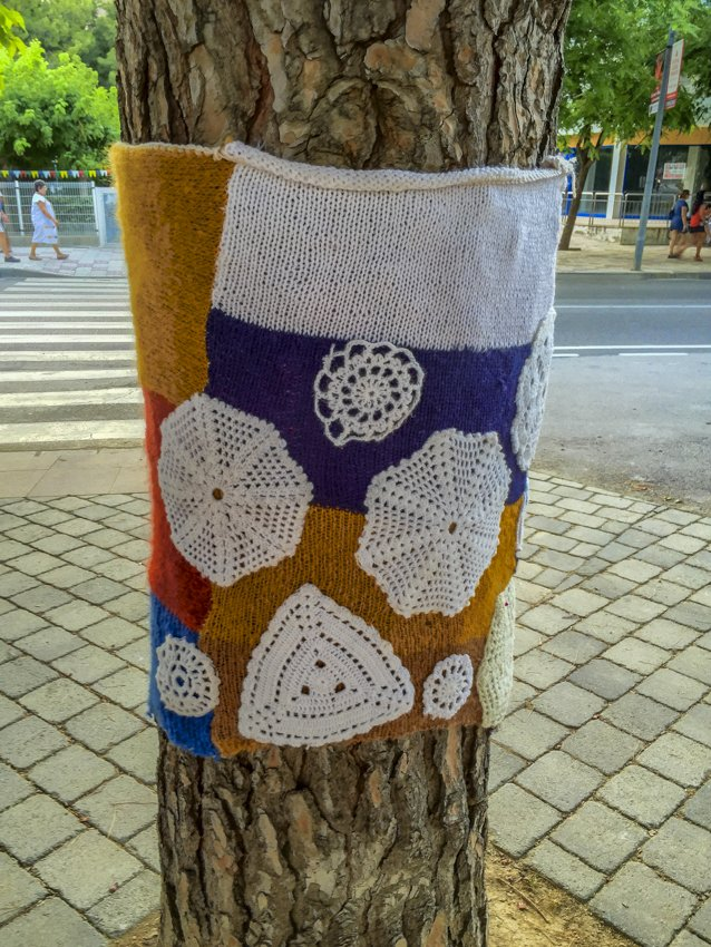 Knitted trees in Llançà