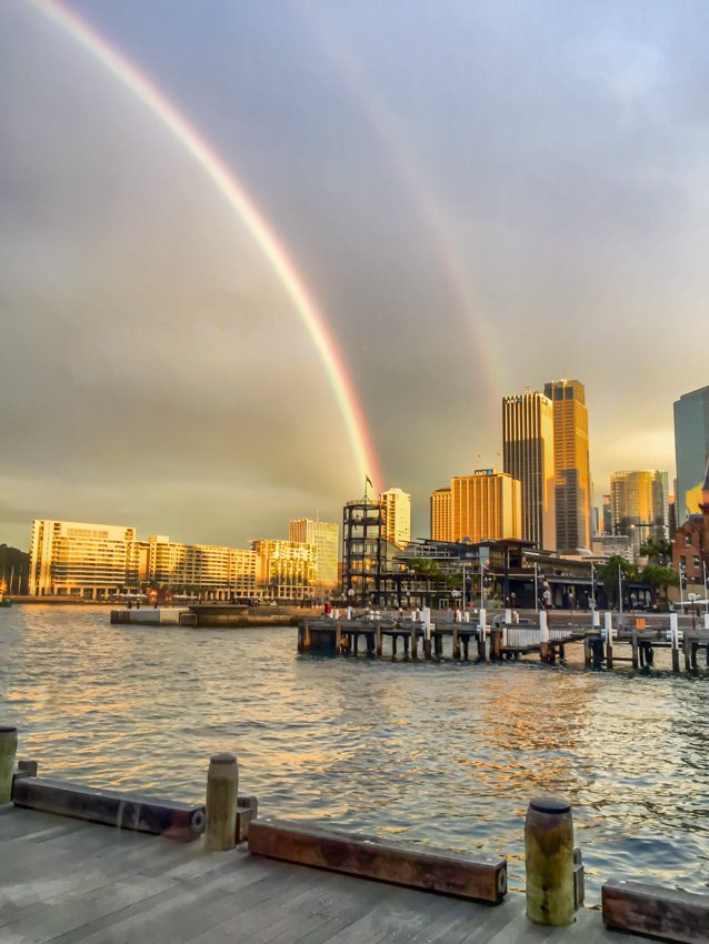 Double rainbow over Sydney