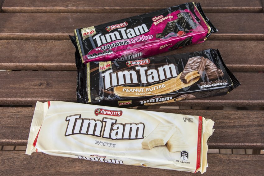 Several Tim Tam specialties