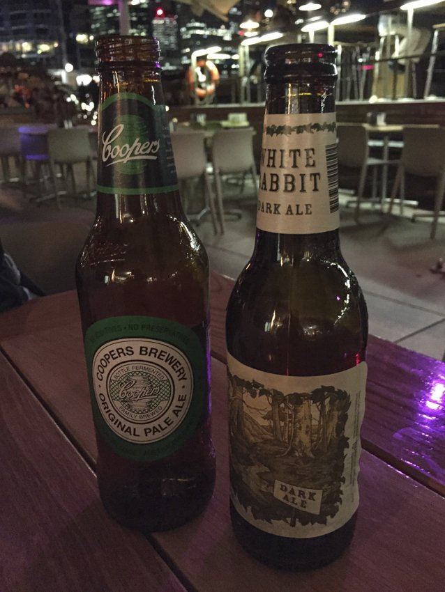 Craft beers for two at the Opera Bar, Sydney