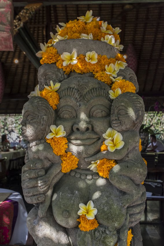 Decorated statue in Ubud, Bali