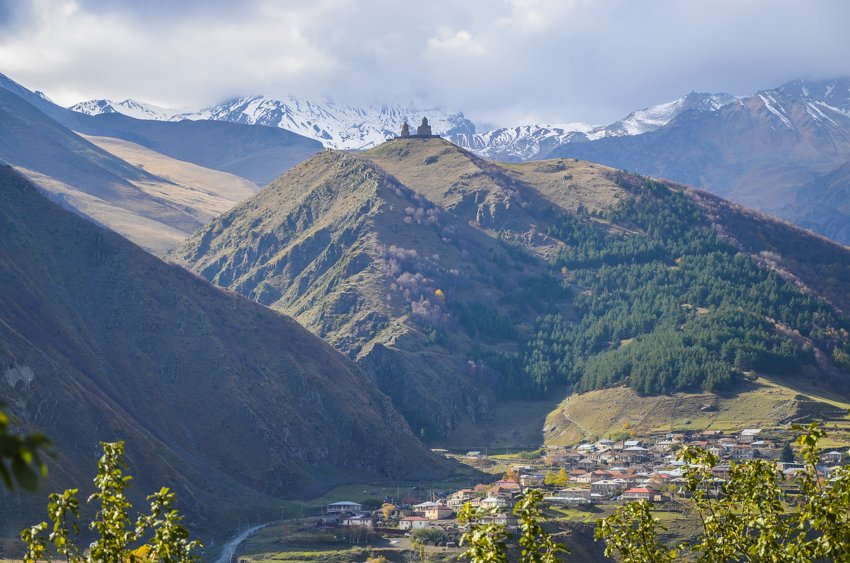 Driving into Kazbegi