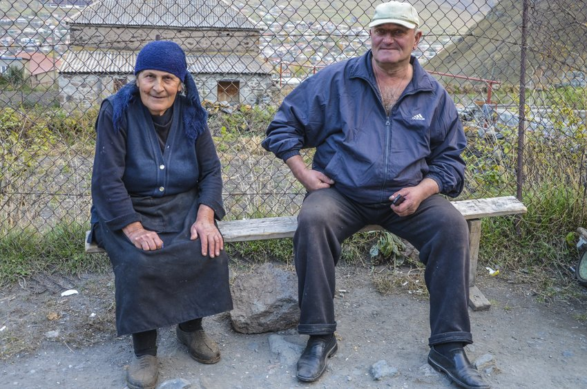 Keen subjects to get photographed, Kazbegi