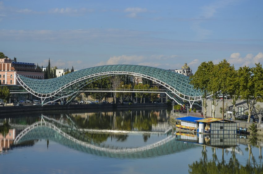 Peace bridge, Tbilisi