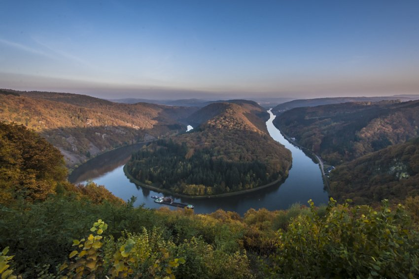 Bend of the Saar river, Saarschliefe, Germany