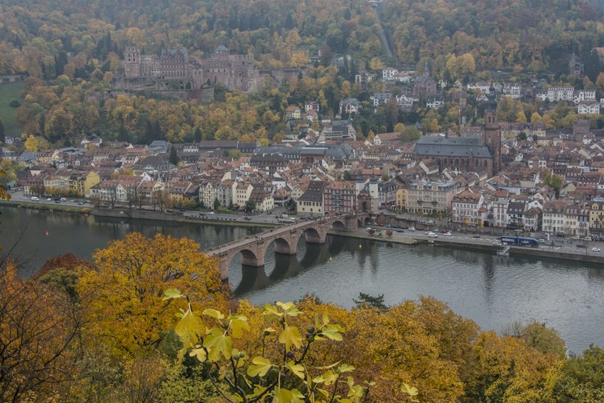 Heidelberg from the Philosophenweg, Germany