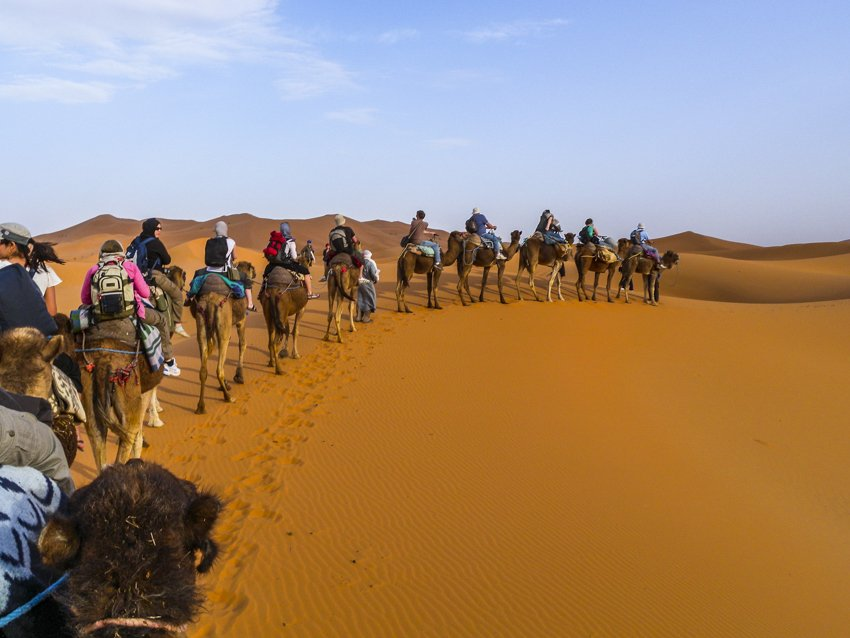 Riding into the Sahara Desert