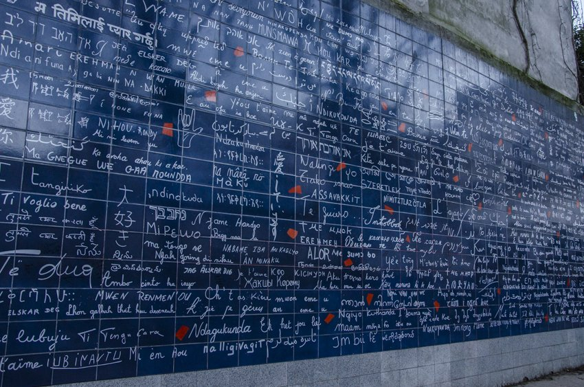 The Wall of Love, in Paris