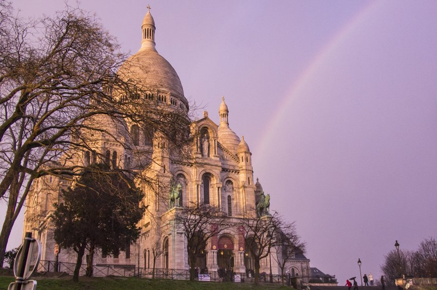 The Basilica of Sacré-Coeur in Montmartre