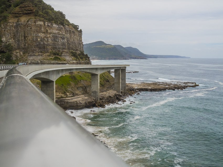Sea Cliff Bridge, summer day trip from Sydney
